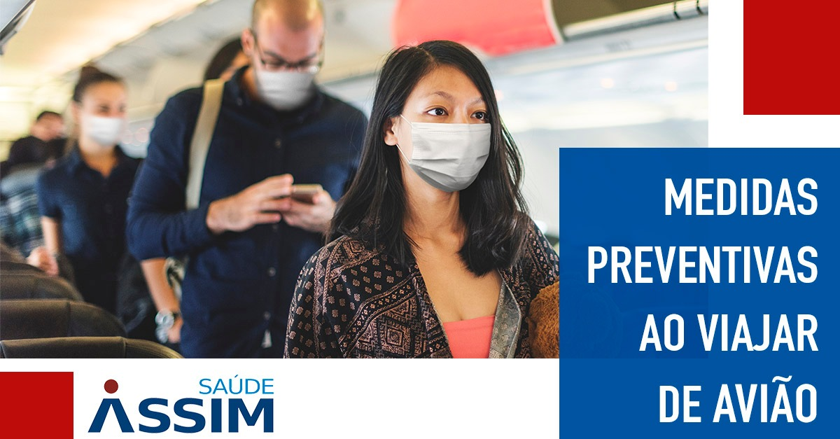 Medidas preventivas se for viajar de avião